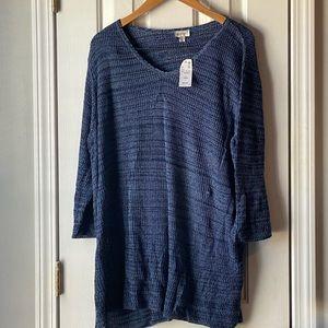 Brand new blue v-neck sweater